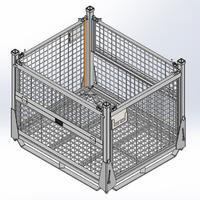 Steel Wire Container - Closed
