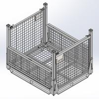 Steel Wire Container - Drop Gate